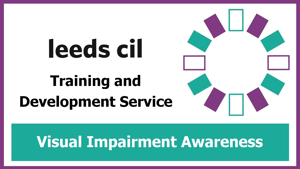 Visual impairment awareness training banner